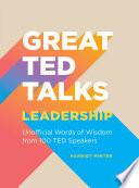 Book Great TED Talks  Leadership