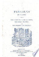 Parables in Verse. The Rich Man and Lazarus; the Barren Fig-Tree; and the Pharisee and the Publican