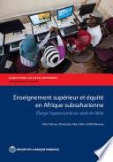 Enseignement supérieur et équité en Afrique subsaharienne
