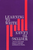 Learning To Write Writing To Learn