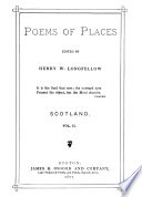 Poems of Places  Scotland  Denmark  Iceland  Norway  and Sweden