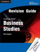Cambridge IGCSE Business Studies Revision Guide