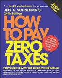 How to Pay Zero Taxes