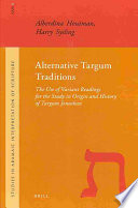 Alternative Targum Traditions