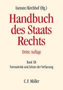 Handbuch des Staatsrechts