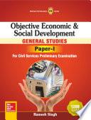Objective Economic   Social Development  General Studies Paper I