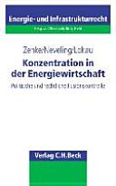 Konzentration in der Energiewirtschaft