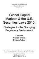 Global Capital Markets   the U S  Securities Laws