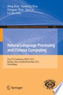 Natural Language Processing and Chinese Computing