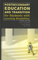 Postsecondary Education and Transition for Students with Learning Disabilities