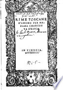 Rime Toscane D Amomo Per Madama Charlotte D Hisca