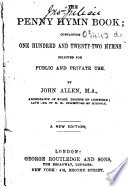 The Penny Hymn Book     A New Edition
