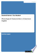 Phonological Characteristics of American English