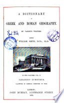A Dictionary of Greek and Roman Geography