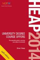 HEAP 2014  University Degree Course Offers