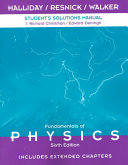 Fundamentals of Physics    Student s Solutions Manual
