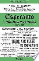 Esperanto in The New York Times (1887 - 1922) Of The Esperanto Movement In The Us