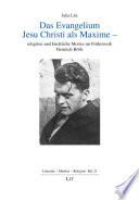 Das Evangelium Jesu Christi als Maxime