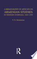 A Bibliography of Articles on Armenian Studies in Western Journals  1869 1995