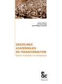 Disciplines académiques en transformation