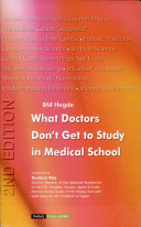 What Doctors Don t Get to Study in Medical School
