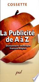 La publicit   de A    Z