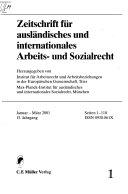 Zeitschrift für ausländisches und internationales Arbeits- und Sozialrecht