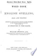 Swinton S Word Book Of English Spelling Oral And Written