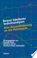 Roman Jakobsons Gedichtanalysen