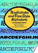 Brushstroke and Free style Alphabets