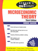 Schaum s Outline of Theory and Problems of Microeconomic Theory
