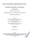 Encyclopaedia Metropolitana: Pure sciences