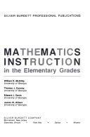 Mathematics Instruction in the Elementary Grades