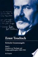 Schriften zur Theologie und Religionsphilosophie (1888-1902)