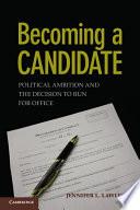 Becoming a Candidate Pdf/ePub eBook