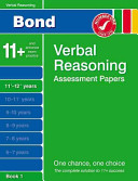 Bond Verbal Reasoning Assessment Papers 11  12  Years