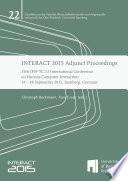 INTERACT 2015 Adjunct Proceedings