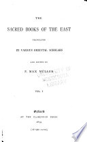 The Sacred Books of the East  The Upanishads  pt 1   translated by F  Max M  ller