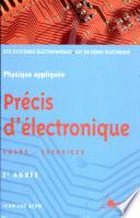 Précis d'électronique 2e année