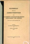 Allgemeine Geschichtsforschende Gesellschaft der Schweiz