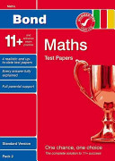 Bond 11+ Test Papers Maths Standard Pack 2