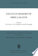 Essays in Memory of Imre Lakatos
