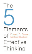 cover img of The 5 Elements of Effective Thinking