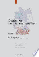 Familiennamen nach Herkunft und Wohnstätte