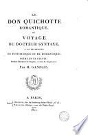 Le Don Quichotte romantique  ou  Voyage du docteur Syntaxe a la recherche du pittoresque et du romantique