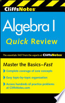 CliffsNotes Algebra I Quick Review  2nd Edition