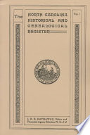 The North Carolina Historical and Genealogical Register