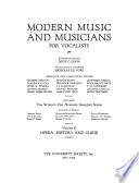 Modern Music and Musicians for Vocalists  Opera  history and guide