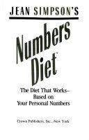 Jean Simpson S Numbers Diet