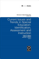 Current Issues And Trends In Special Education book